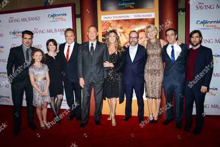 Colin Farrell, Annie Rose Buckley, Melanie Paxson, Bradley Whitford, Tom Hanks, Rita Wilson, Paul Giamatti, Emma Thompson, BJ Novak and Jason Schwartzman