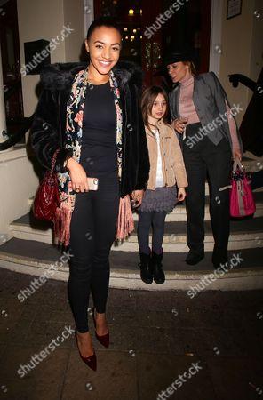 Amal Fashanu and Elen Rivas with daughter Luna Lampard