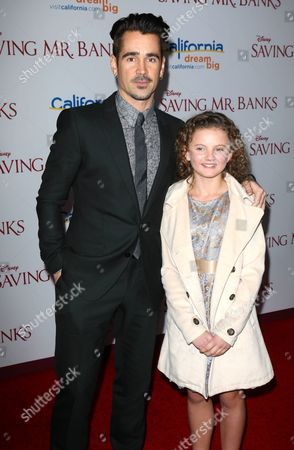 Stock Image of Colin Farrell and Annie Rose Buckley