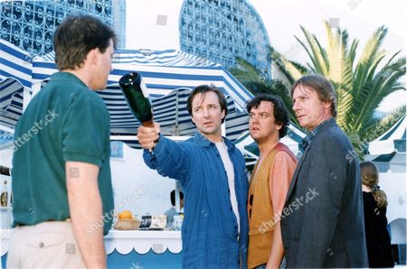 Television Programme 'between The Lines' 1994 Ex-cib Tony Clark (played By Neil Pearson) Clashes With Blake (played By Hamish Mccoll) Watched By Tom Georgeson And Richard Mccabe While On A Ministerial Sex Scandal Investigation In Tunisia.