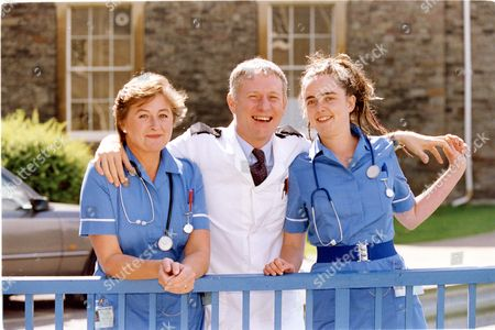 Television Programme 'casualty' 1994 Sorcha Cusack As Kate Wilson Derek Thompson As Charlie Fairhead And Lisa Coleman As Jude Kocarnik.