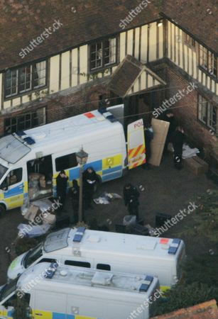 Police Load Boxes From The Main House At The Kent Farm Belonging To Millionaire Crook John Fowler Which They Are Searching In Connection With The 53m Heist This Was Britain's Biggest Ever Cash Robbery Of More Than Ii53 Million Which Took Place On Wednesday February 22 2006 Following A Raid On The Securitas Cash Depot In Tonbridge Kent 1306