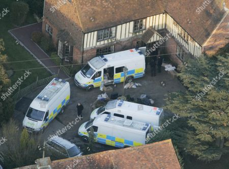 Editorial image of Police Load Boxes From The Main House At The Kent Farm Belonging To Millionaire Crook John Fowler Which They Are Searching In Connection With The 53m Heist. This Was Britain's Biggest Ever Cash Robbery Of More Than Ii53 Million Which Took Place On W