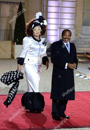 President of the Republic of Cameroon Paul Biya and his wife Chantal Biya