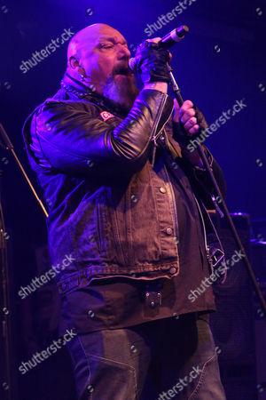 Editorial image of Paul Di'Anno in concert at Hard Rock Hell, Pwllheli, Wales, Britain - 30 Nov 2013