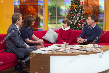 Aled Jones and Lorraine Kelly with Jack Topping and Richard Arnold