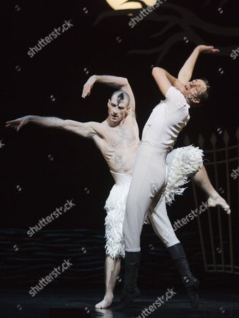 Jonathan Ollivier as The Swan and Sam Archer as The Prince