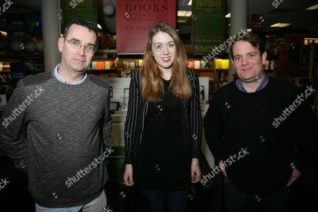 Mick Herron, Samantha Shannon and James Benmore