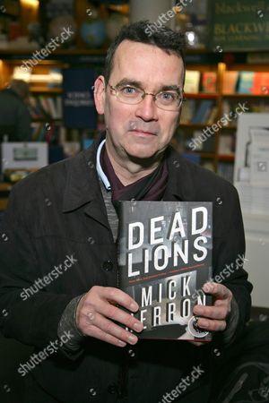 Mick Herron promotes his book Dead Lions