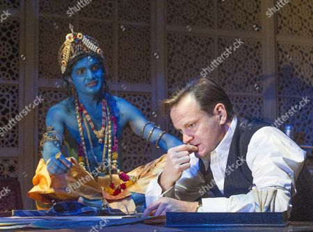 'Drawing the Line' - Peter Singh as The Lord Krishna and Tom Beard as Cyril Radcliffe