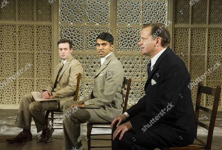 Stock Picture of 'Drawing the Line' - Brendan Patricks as Christopher Beaumont, Nikesh Patel as Rao VD Ayer and Tom Beard as Cyril Radcliffe