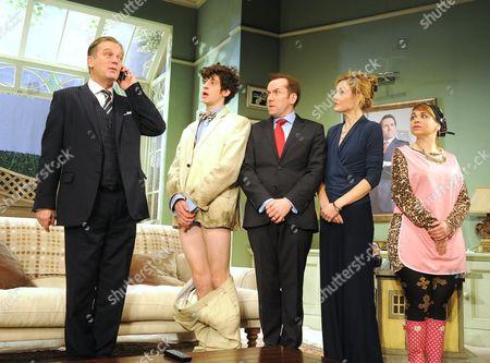 'The Duck House' - Simon Shepherd as Sir Norman, James Musgrave as Seb, Ben Miller as Robert Houston MP, Nancy Carroll as Felicity and Debbie Chazen as Ludmilla