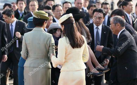 Editorial image of Japanese Royal Family at Haneda Airport in Tokyo, Japan - 11 Dec 2013