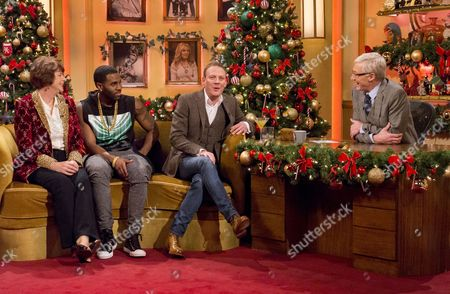 Pam Ayres, Jason Derulo and Antony Cotton with Paul O'Grady