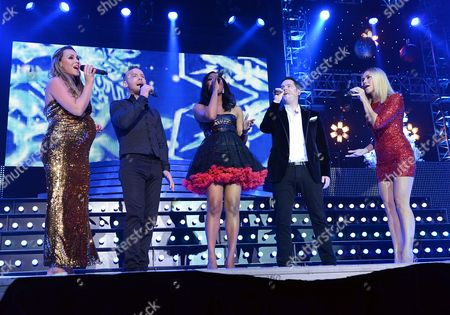 Liberty X - Michelle Heaton, Tony Lundon, Jessica Taylor, Kevin Simm and Kelli Young