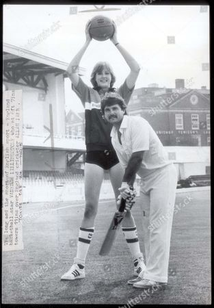 Allan Lamb - Cricketer The Long And The Short Of English Sport - England Basketball Star Vanessa Lillingston-price Who At 6ft 7 Ins Towers 11ins Over England Cricketer Allan Lamb.