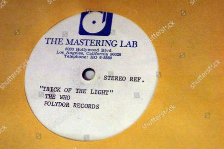 Stock Image of 'trick Of The Light' Record By The Who Polydor Records. Lots At The Auction Of Property Owned By John Entwistle The Former Bass Guitarist With 'the Who' At Frogmill Hotel Andoversford Gloucestershire.