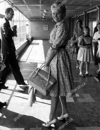 Actress Ann Todd Leaving London Airport For Paris.