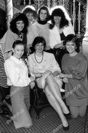 Suzanne Volp Of The Kings Road Model Agency Auditioning Model Hopefuls In Manchester. She Is Pictured With Sharon Dahill Roz Tranfield Diane Perry Jane Kelly Alexandra Darcy And Suzy Mcewan.