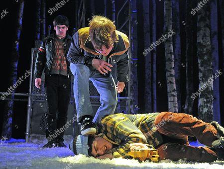Christian Ortega as Micke, Graeme Dalling as Jonny and Martin Quinn as Oskar