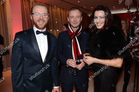 Simon Pegg, John Simm and Kate Magowan