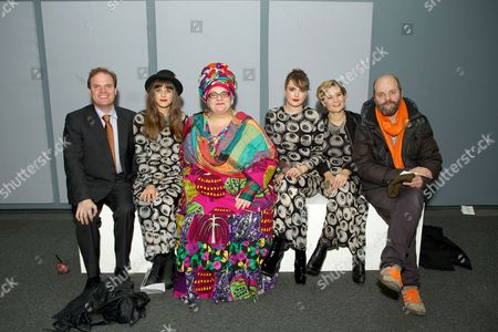 Stock Image of Harry Dalmeny, Charlotte Colbert, Camila Batmanghelidjh, Lauren Jones, Alix Janta and Gavin Turk