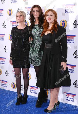 Lauren O'Rourke, Jessica Knappett and Lydia Rose Bewley