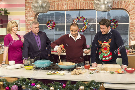 Ruth Langsford and Eamonn Holmes with Reza Mahammed and James Argent