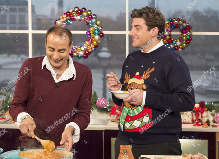 Stock Photo of Reza Mahammed and James Argent