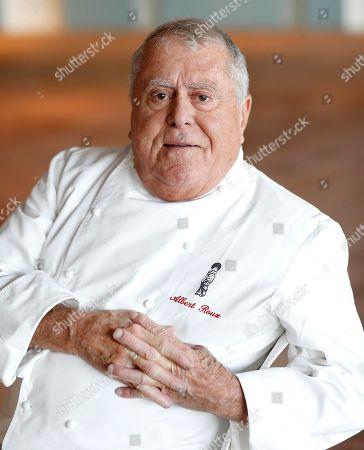 Iconic French Chef Albert Roux photographed in the Aviva Stadium in Dublin, Ireland