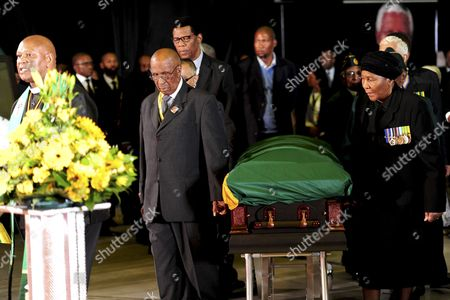 Andrew Mlangeni during the ANC official send-off ceremony for Nelson Mandela