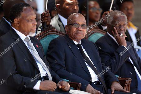 President Jacob Zuma with Thabo Mbeki and Kgalema Motlanthe