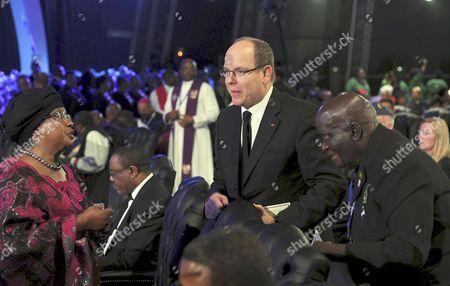 President of Malawi Joyce Banda, Prince Albert II of Monaco and Kenneth Kaunda