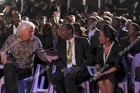 Sir Richard Branson, Patrice Motsepe and his wife Precious Makgosi Molo
