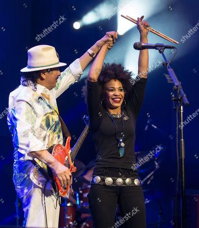 Carlos Santana and Cindy Blackman Santana