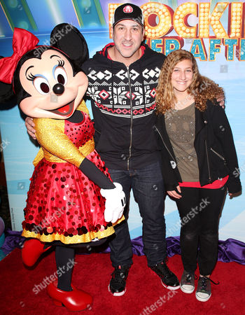 Joey Fatone and Briahna Fatone with Minnie Mouse