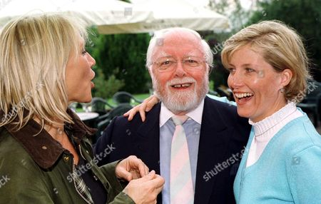 SOPHIE, COUNTESS OF WESSEX WITH SIR RICHARD ATTENBOROUGH AND INGRID TARRANT