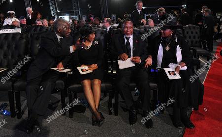 Former President, Thabo Mbeki, his wife Zanele, Deputy President Kgalema Motlanthe and his partner Gugu Mtshali
