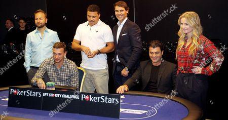 Stock Photo of Daniel Negreanu, Andriy Shevchenko, Ronaldo, Rafael Nadal, Alberto Tomba and Fatima Moreira de Melo