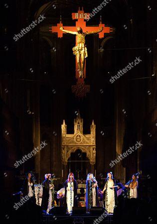 Stock Picture of The Mediaeval Baebes - Katharine Blake, Esther Dee, Clare Marika Edmondson, Sarah Kayte Foster, Emily Alice Ovenden, Josephine Ravenheart