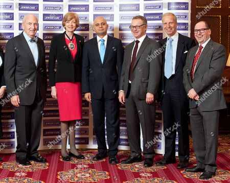 Lord Young, Fiona Woolf (Lord Mayor of London), Sajid Javid MP, Steven Lewis (Chairman of Jewish Care), Lord Leigh, Simon Morris (CEO of Jewish Care).