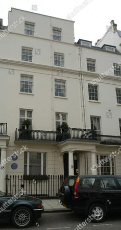 Editorial image of No 16 South Eaton Place Belgravia London Sw1. Actress Elizabeth Hurley Viewed The Ii5million Property Over He Weekend. Should She Decide To Buy She Would Be Following Some Illustrious Occupiers. The Property Has Two Blue English Heritage Plaques Outs