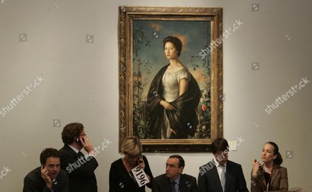 The Auction At Christies Continues For A Second Day With The Sale Of Princess Margaret's Furniture And Fine Art. Pictured Is Lot Number 293 A Pietro Annigoni Portrait Of Princess Margaret Which Sold For A Hammer Price Of Ii600 000. See Paul Harris Story.
