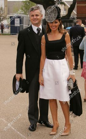 Carol Vorderman Is Pictured With Her Partner Des Kelly (daily Mail Sports Columist) During Day Two Of The Royal Ascot.