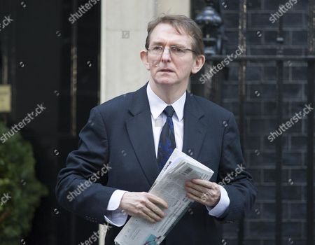 Newspaper Editors From The National Newspapers In Downing Street Today 4th Dec 2012 To Meet David Cameron For A Meeting About Press Regulation. Pictured Is Tony Gallagher From The Telegraph.