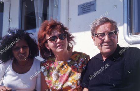 British Spy Kim Philby (died 11/5/1988) In Russia With 4th Wife Rufina Ivanovna Pukhova (nina Philby) And Nishia Philby Wife Of His Son John Philby.