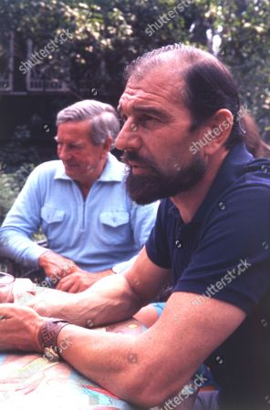 British Spy George Blake With Russian Spy Kim Philby (died 11/5/1988) At Blake's Home In Russia.