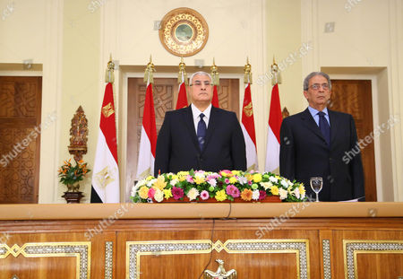 Editorial photo of Egypt's Interim President Adly Mansour Annoucing That a Referendum on a New Draft Constitution, Cairo, Egypt - 14 Dec 2013