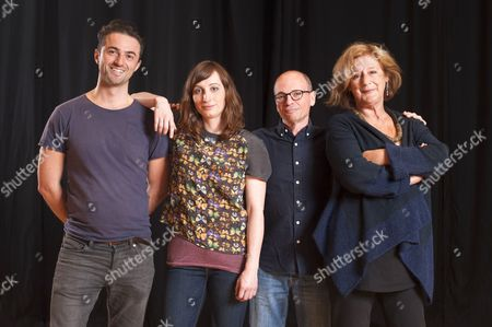 Stock Photo of 'Listen, We're Family' cast - Tom Berish, Isy Suttie, Kerry Shale and Maggie Steed