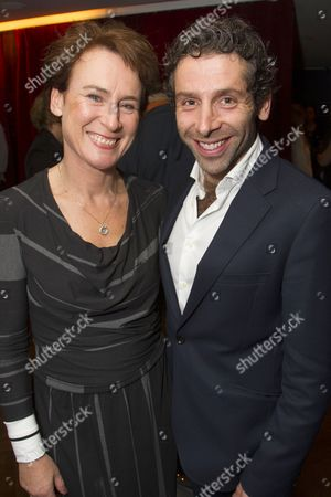 Stock Picture of Elliot Levey (Brutus) and Helen Schlesinger (Sicinia)